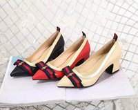 Wholesale chunky black wedges - 2018 New Shoes Fashion Cross-band Summer Stripe Bow-knot Black For Women Stiletto 39 S Rhinestone Wedges Hight-Heel 5Cm Beaded Sexy Sandals