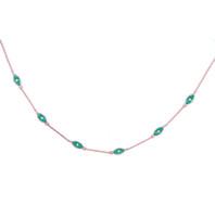 enlace turco de plata al por mayor-2017 collares maxi collar collier 100% 925 esmalte de plata encanto de la cadena de enlace joyería malvado turco dainty choker collar