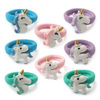 adornos de unicornio al por mayor-Europa y América Hairbands nuevo patrón de los niños cabeza adornos resina Unicorn Circle Diy Lovely Hair Band moda 0 91wj dd