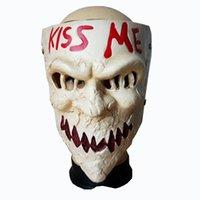 kafatası reçine maskeleri toptan satış-Yeni Varış Film Temalı Tasfiye 3 Seçim Yıl Öp Beni Cosplay Korku Reçine Kafatası Maskesi Cadılar Bayramı Masquerade Parti Maskesi