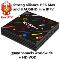Wholesale arabic iptv subscription for sale - H96 MAX with firetv best than Qhdtv iptv m3u year Subscription arabic europe french italia iptv channels and movies sports