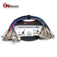 Wholesale effects pedals cable resale online - JOYO Effect Pedal Cable CM ft Colourful Cable Shielded Mono mm Male to mm Male Angle Plug Cable