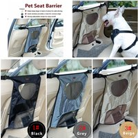 Wholesale car prevent online - 3 Colors Pet Seat Barrier Waterproof Durable dog Vehicle Seat Barrier For Car Back Seat Prevent Pet Dogs puppy Supplies AAA520