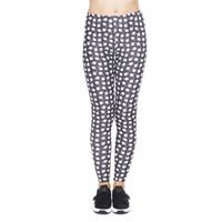 impresión de píxeles al por mayor-Polainas de las mujeres Pixel Palm pequeña impresión en 3D chica Skinny Yoga elástico desgaste pantalones Gym Fitness lápiz apto corredor pantalones casuales nuevo (YX37092)