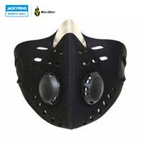 wolfbike achat en gros de-WOLFBIKE Anti-pollution Antipoussière Ville Cyclisme Masque Vélo Vélo Moto Bouche Couverture Extérieur Mouth-muffle avec filtre