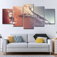 Wholesale musical paintings art online - 5PCS Canvas Painting Wall Art Home Decor HD Prints Piece Classical Violin Pictures Musical Instruments Poster Living Room Framework