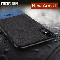 Wholesale Purple People - MOFi Luxury Business Cellphone Case For iPhone X Canvas Cloth And Soft Edge Back Cover For iPhone X-8-7 Plus Customized for Business People