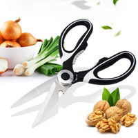 Wholesale Kitchen Scissors Chicken - Kitchen Shears Food Scissors Stainless Steel Shears With Soft Grip Super Sharp Chicken Poultry Fish Meat Vegetables Scissor OOA4351