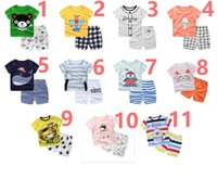 Wholesale baby boy years old clothing online - Children s clothing children s cotton short sleeved suit years old baby summer clothes boys and girls t shirt shorts two piece