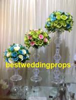 jarrones para bodas centros de mesa al por mayor-centros de boda florero florero / florero de boda para mesa, candelabros de bodas / decoraciones de boda tienda best0331