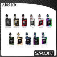 Wholesale Green Aliens - Authentic SMOK AL85 Alien Baby Kit with AL85 85W Vaporizer Mod and 3ml SmokTech TFV8 BABY Tank Electronic Cigarette Vape Kit 100% Original