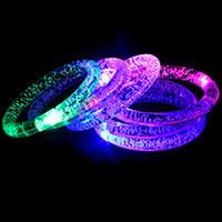 handgelenkband leuchtet großhandel-LNRRABC 2018 Neue Kreative Acryl Leuchtende Unisex LED Leuchten Flash Armband Armreif Handgelenk Band Arm Band Gürtel Modeschmuck