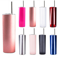 Skinny Tumbler 20oz Water Bottle Thermos Insulated Stainless Steel Tumbler With lids For Coffee Mugs Beer Cup Wedding party Christmas Gift