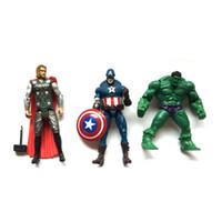 ironman toy pvc großhandel-Die avengers suoerhero action-figuren Ironman Hulk PVC fures spielzeug 13-15,5 cm DHL freies verschiffen