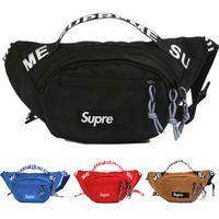 ingrosso zaini colori-Supme Waist Bag 18ss Chest Pack borse moda Borse a tracolla singola Outdoor borse 4 colori DHL spedizione