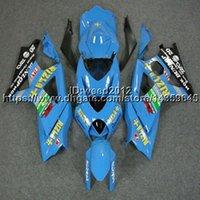 carenado k7 al por mayor-23colors + 5Gifts capucha de moto azul claro para Suzuki muchos esquema de pintura K7 GSX-R1000 2007-2008 GSXR 1000 07 08 ABS Plastic Fairing
