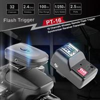 Wholesale remote camera transmitter resale online - 16 Channels Wireless Remote Flash Trigger Synchronizer Receiver Transmitter for DSLR Camera Flashes New
