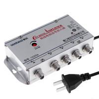 amplificateur séparateur de câble achat en gros de-4 Way TV VCR CATV Câble TV Antenne Signal Amplificateur Amplificateur Booster Splitter CAU_108