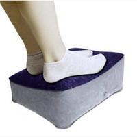 Wholesale massage supplies resale online - Comfortable hot sales Inflatable Travel Foot Rest Pillow Bedding Supplies Home Textiles