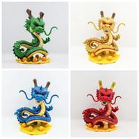 Wholesale Dragon Pvc - 4 Color Dragon Ball Z Funko POP Super Saiyan Son Goku 15cm dragon PVC Action Figure Model DragonBall Toy CCA8580 14pcs