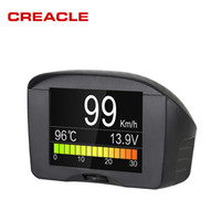 Wholesale Obd For Cars - Wholesale-Autool X50 Plus Car OBD Smart Digital Meter Alarm Water Temperature Gauge Digital Voltage Speed Meter Display Multi-Function