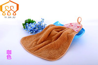 Wholesale Quality Kitchen Towels - High Quality Coral Velvet Towel Hanging Kitchen Bathroom Towel Cloth Adult Children Super-absorbent Car Wash