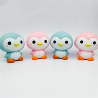 Wholesale penguin for sale - Penguin So Lovely Slow Rising Squishy Jumbo Squeeze Candy Color Squishies For Decompression Pressure Toys Hot Sale 9 8sy Z