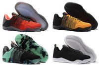 Wholesale kobe xi shoes for sale - Group buy Dropshipping High Quality Men Kobe EM Mamba Day Shoes Kobe XI Low Elite Athletic Sports Sneakers Boots Black Gold