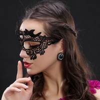 Wholesale sexy masks for ladies resale online - Worldwide Black Sexy Lady Halloween Lace Mask Cutout Eye Mask for Masquerade Party Fancy Mask Costume for Halloween Party Epacket Free