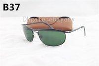 rahmen 62 großhandel-1 stücke Beste Qualität Berühmte Marke Olympia Sonnenbrille Schwarz Metallrahmen Glaslinse 62 MM frauen Brillen UV400 Sonnenbrille 8012 Mit Box, Fall