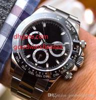 esportes de cerâmica venda por atacado-Fornecedor de fábrica de Luxo Ásia Movimento Qualidade 40mm Cerâmica Bezel 116500 pulseira de aço Inoxidável Relógio de Esporte dos homens Relógios