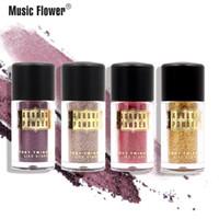 Wholesale loose pigment makeup resale online - Newest Music Flower Aurora Glitter Loose Powder Makeup Brighten Pigment Metallic Shimmer Highlight Eye shadow Cosmetic