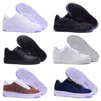 zapatillas más nuevas al por mayor-Nike Air Force 1 One Flyknit Nuevos Huarache Running Shoes Huaraches Rainbow Ultra Breathe Shoes Hombres Mujeres Huaraches Multicolor Sneakers Air Size 36-45 AA
