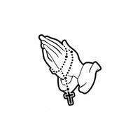 pegatinas religiosas al por mayor-Rosario rosario Cristiano Religioso Spitiual Etiqueta engomada católica del coche portátil etiqueta engomada del refrigerador CA-198