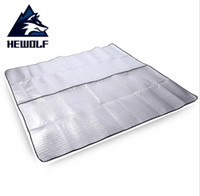 Wholesale large outdoor beach mat resale online - Heworf Brand Foldable Large Picnic Camping Blanket Moisture proof pad Outdoor Beach Hiking Aluminum film Mat cm