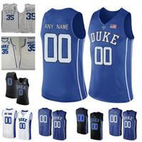 Wholesale duke blue - Custom Duke Blue Devils College Basketball Jersey 35 Marvin Bagley III 0 Jayson Tatum 5 RJ Barrett 2 Cam Reddish 3 Tre Jones Zion Williamson
