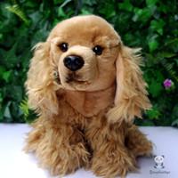 Wholesale Brown Dog Stuffed Animal - Plush Animals Toy Cocker Spaniel Doll Stuffed Toys Spaniel Dog Lying Dogs Posture Child Dolls Birthday Gift