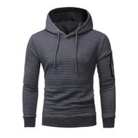 eşsiz hoodies sweatshirts toptan satış-Erkekler Standart Yeni High-End Rahat Hoodie Erkekler 'S Moda Benzersiz Kore Stil Uzun Kollu Kazak Moda Sıcak Erkek Giyim