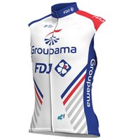 Wholesale team fdj - 2018 Groupama Fdj PRO TEAM 2 DESIGN SUMMER ONLY Sleeveless Vest Bicycle Bike Wear Cycling Jersey Size XS-4XL E04