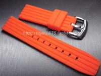 более чем 60 брендов оптовых-2019 fashion 22mm high quality orange yellow black soft mountain diving diving outdoor rubber silicone strap for ed watch