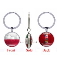 Wholesale Football Photos - 2018 FIFA World Cup Russia-The Republic of Poland National Flag Football Pattern Double Sides Photo Printing Bottle Cap Opener Key Chain