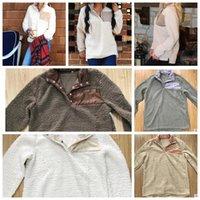 chaquetas de sherpa al por mayor-Sherpa Pullover mujeres chaqueta de gran tamaño invierno outwear mujeres pullover suave lana Sherpa invierno outwear chaqueta KKA2997