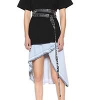 Wholesale pvc transparent - 18SS INDUSTRIAL Belt Transparent Letters PVC BELT Metal Button Unisex Hip Hop Swag Brand Men Women Belt HFYMPD001