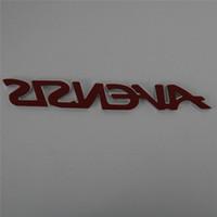 ingrosso corpo del logo-3D ABS plastica argento AVENSIS Car Emblem Badge Corpo laterale Logo Decal Sticker posteriore Accessori Decorazione