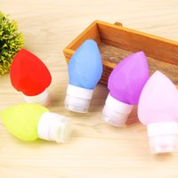 Wholesale Heart Silica - Soft Silica Gel Empty Bottle Five Colors Easy To Carry Squeeze Container Diamond Love Heart Shape Silicone Travel Storage Bottles New 4zc B