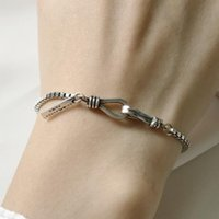 Wholesale thick silver chain bracelets resale online - luxury jewelry S925 sterling silver bracelets thick box chain mm handmade bracelets for women hot fashion