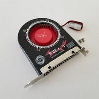 ventilador pci al por mayor-2Pin IDE Molex Power Evercool FOX-1 Chasis del disipador de calor Refrigerador PCI Ventilador de refrigeración Ventilador del ventilador para PC DIY