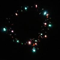 yanıp sönen ışıklar yukarıya doğru kolye toptan satış-Moda Aydınlık Kolye Noel Cadılar Bayramı Partisi Dekorasyon Için LED Işık Up Kolye Plastik Yanıp Sönen Boncuklu Işıkları Kolye 3 8za B