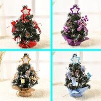 ingrosso splendidi display-Albero di Natale da 30cm a 50cm mini bellissime decorazioni per l'albero di Natale Vetrina Decorazione da tavolo S05