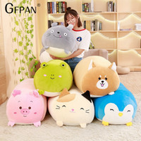 Wholesale stuffed animals for babies - 60CM New Collection Cute Stuffed Animals Totoro amp cat amp penguin amp frog Plush Toys Soft Pillow Birthday Gifts For Baby Kids Brinquedos